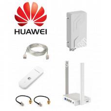Petra-12 MIMO 2x2 BOX в комплекте с Keenetic 4G и модемом Huawei E3372
