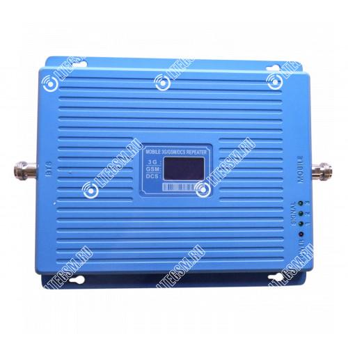 Репитер 3G GSM 900Мгц GSM LTE 1800МГц 3G GSM 2100МГц (до 300м²) без антенн