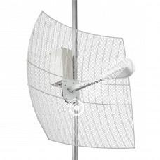 KNA24-1700/2700 BOX CRC9 - параболическая MIMO антенна 2*24 дБ с гермобоксом Usb 10 Метров