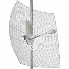 KNA27-1700/2700 BOX CRC9 - параболическая MIMO антенна 2*27 дБ с гермобоксом Usb 10 Метров