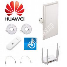 Комплект Kroks для Интернета с Панельной антенной MIMO 3G/4G LTE MIMO 2*18ДБ
