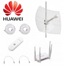 Комплект Kroks для Интернета с Параболической антенной до 20КМ MIMO 3G/4G LTE  2*24ДБ