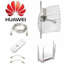Комплект Kroks для Интернета с Параболической антенной до 20КМ MIMO BOX 3G/4G LTE  2*24ДБ