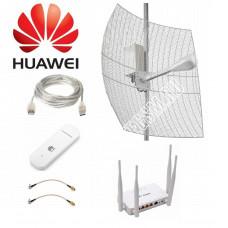 Комплект Kroks для Интернета с Параболической антенной до 25КМ MIMO BOX 3G/4G LTE  2*27ДБ