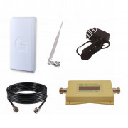 Усилитель сотового сигнала (Репитер 3G 2100МГц) с антенной 18 Дб Gellan (до 150м²)