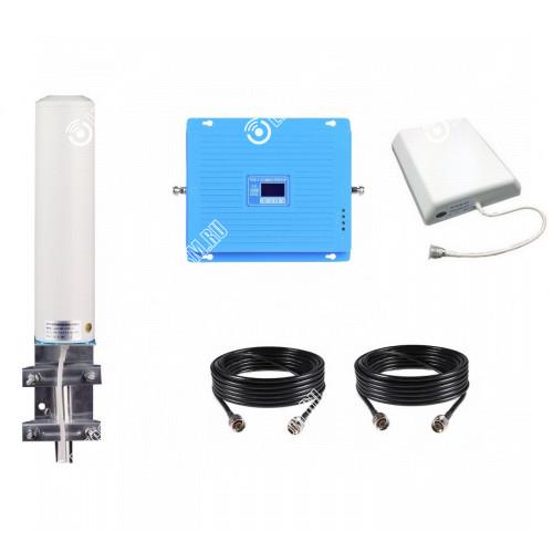 Усилитель сотового сигнала (Репитер) 3G GSM 900Мгц GSM LTE 1800МГц 3G GSM 2100МГц (до 300м²)