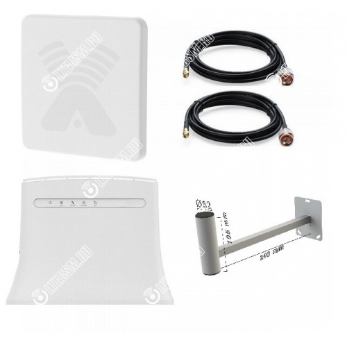 Zte Mf283 с Панельной антенной 3G/4G/LTE Антекс до 15 КМ