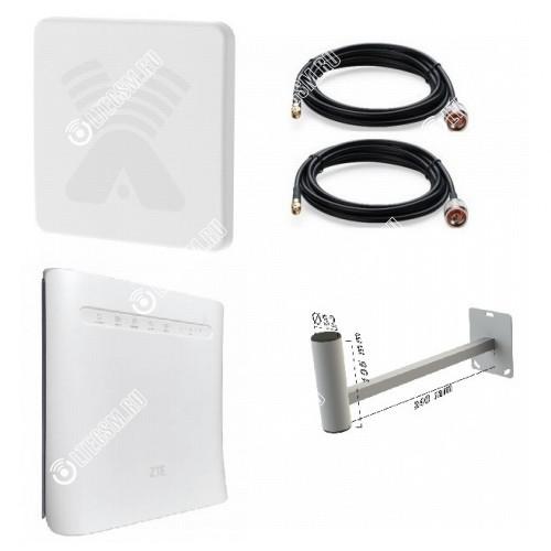 Zte Mf286 с Панельной антенной 2*20Дб 3G/4G/LTE Антекс до 15 КМ