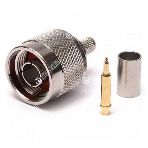 Разъем обжимной N-111 N-male на кабель 5D-FB