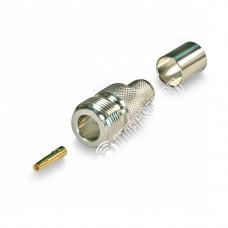 Разъем обжимной N-211 N-female на кабель 5D-FB