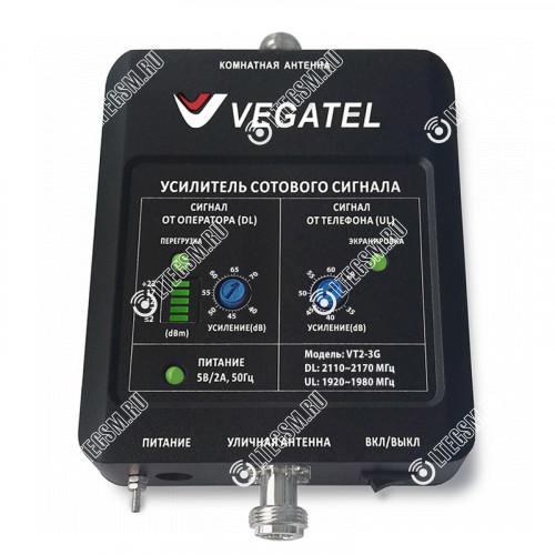 Репитер VEGATEL VT2-3G (LED)